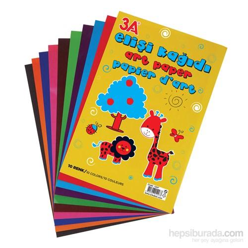 3A Elişi kağıdı 10'lu Poşetli (Karışık Renk)