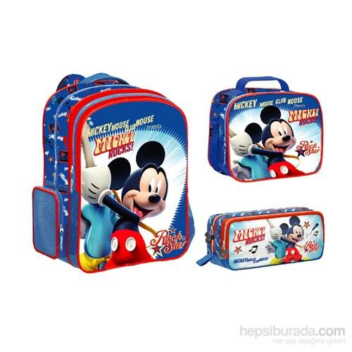 Disney Mickey Mouse 3'lü Okul Seti 29x37x15