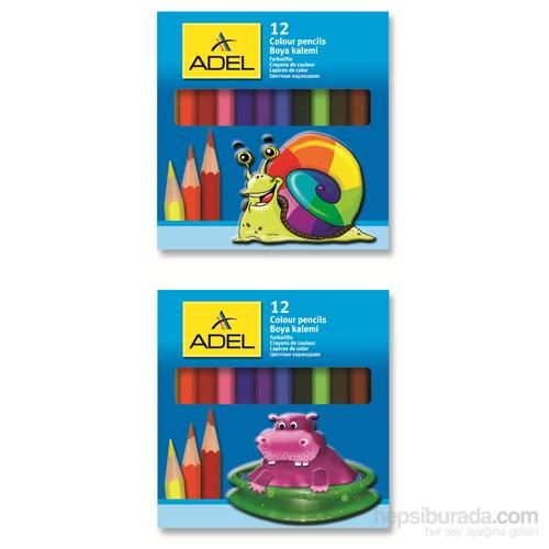 Adel Karton Kutu Boya Kalemi 12 Renk Yarım Boy (2112325000)