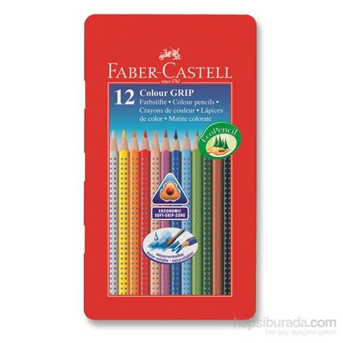 Faber-Castell Grip 2001 Metal Kutu Boya Kalemi 12 Renk (5170112413)
