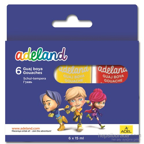 Adeland Guaj Boya 15 ml 6 Renk