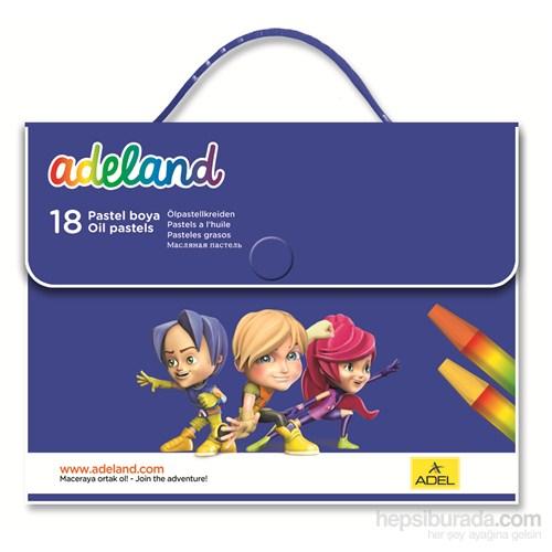 Adeland Çantalı Pastel Boya 18 Renk