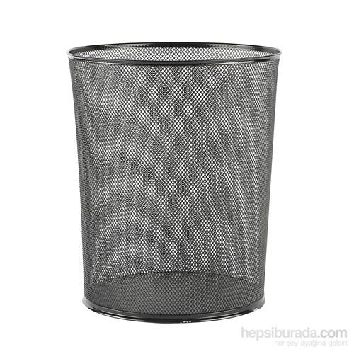Evmanya Haus Delikli Metal Çöp Kovası - Siyah