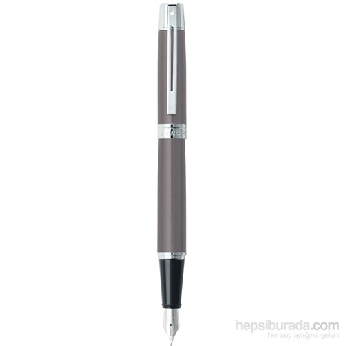 Sheaffer 300 Serisi Dolma kalem, Metalik gri gövde ve kapak, krom klips eol