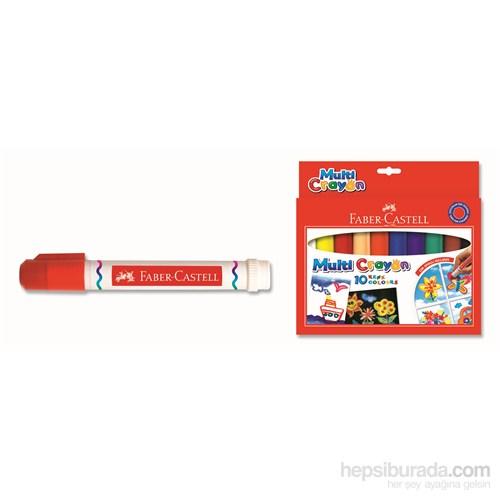 Faber-Castell Multi Crayon Pastel 10 Renk (5281112010)