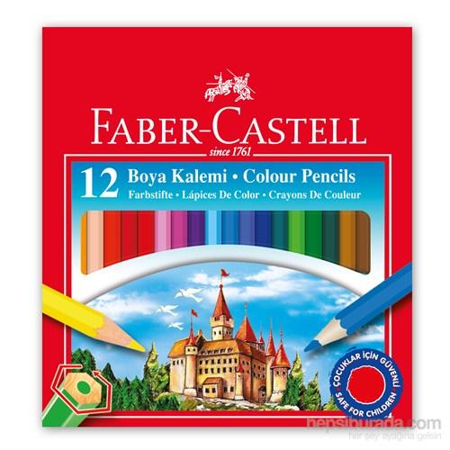 Faber-Castell Karton Kutu Boya Kalemi 12 Renk Yarım Boy (5171116412)