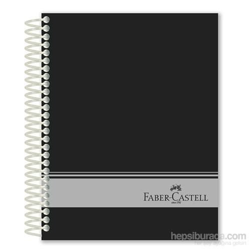 Faber-Castell Sert Kapak Sep.3+1 Siyah Defter 120 Yaprak (5075400306)