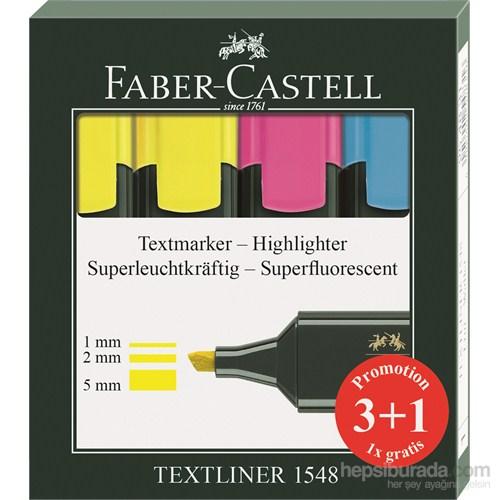 Faber-Castell Textliner Fosforlu Kalem 3+1