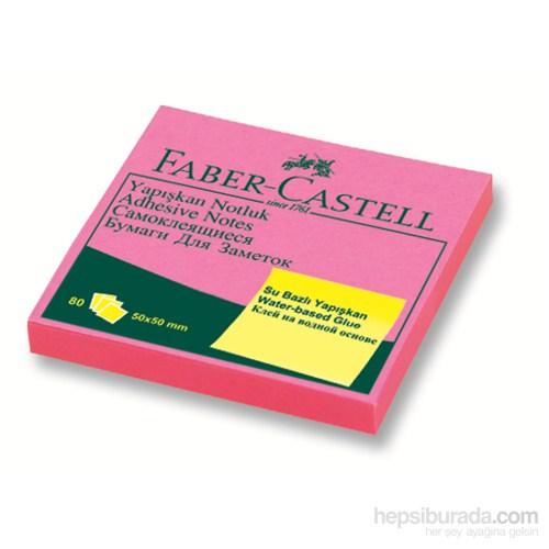 Faber-Castell Yapışkan Notluk 50x50mm Fosforlu Pembe (5089565840)