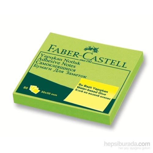 Faber-Castell Yapışkan Notluk 50x50mm Fosforlu Yeşil (5089565842)