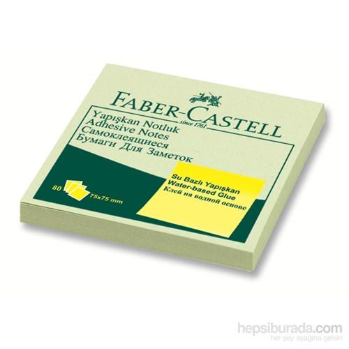 Faber-Castell Yapışkan Notluk Harmony 75x75mm Yeşil (5089585404)