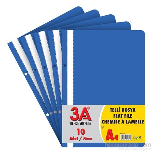 3A Telli Dosya 10'lu Paket Mavi