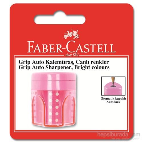 Faber-Castell Grip Auto Kalemtraş Tekli Floresan Renkler - 3 Renk (5600183491)