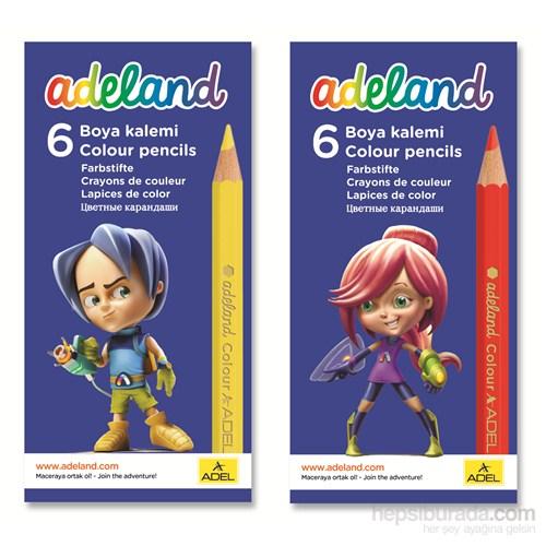 Adeland Karton Kutu Boya Kalemi 6 Renk Yarım Boy