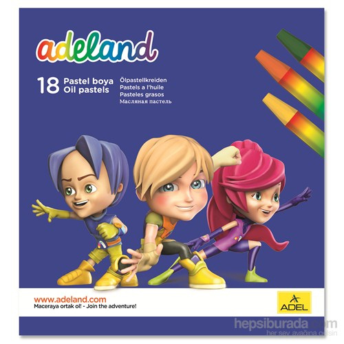 Adeland Pastel Boya 18 Renk