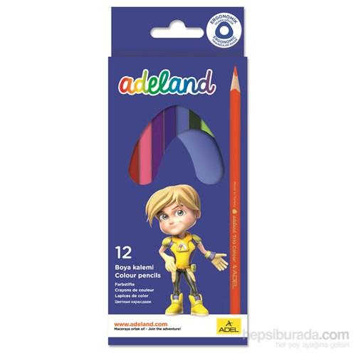 Adeland Karton Kutu Üçgen Boya Kalemi 12 Renk Tam Boy