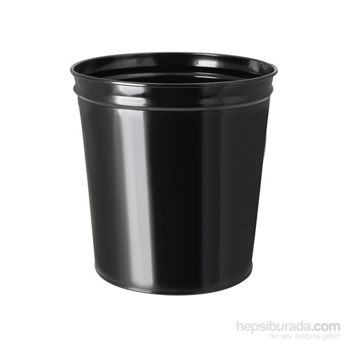 Çok Amaçlı Metal Çöp Kovası Siyah