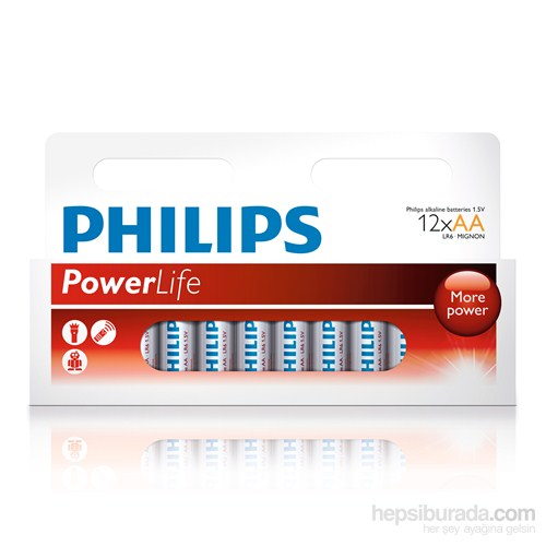 Philips LR6P12B Alkaline 12 li Kalem Pil