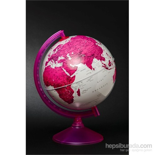 Gürbüz Dünya Küresi 26 cm (Mor/Pembe)