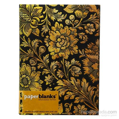 Paperblanks Pb-3-1044-3 Midnight Gold Midi Düz Defter