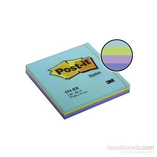 3M Post-it® Not, Okyanus, Mavi Tonlari, 4 renk x 25 yaprak, 100 yaprak, 76x76mm