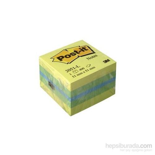 Post-it® Not, Mini Küp, Sari Tonlari, 400 yaprak, 52x52mm