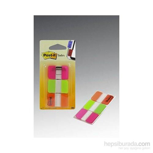 Post-it® Index- Sert Seperatör, Kalin Polyester, Mor, Yesil, Turuncu, 3 renk x 22 adet