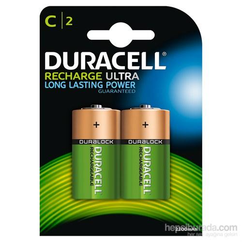 Duracell Şarj Edilebilir C Orta Boy Pil 2'li Paket