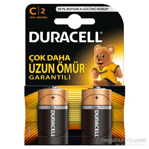 Duracell Alkalin C Orta Boy Pil 2'li Paket