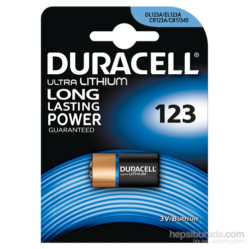 Duracell Ultra Photo Lityum 123 Özel Pil