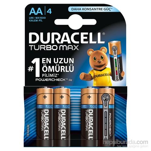 Duracell Turbo Max Alkalin AA Kalem Pil 4'lü Paket