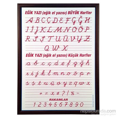 Akyazı 50x70 Eğik El Yazısı (Mdf Çerçeve)