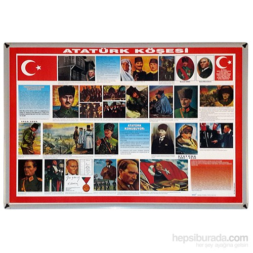 Akyazı 70x100 Atatürk Köşesi (Mdf Çerçeve)