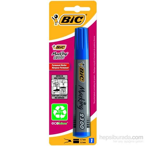 Bic Marker 2300 Kesik Uç Mavi BL 1