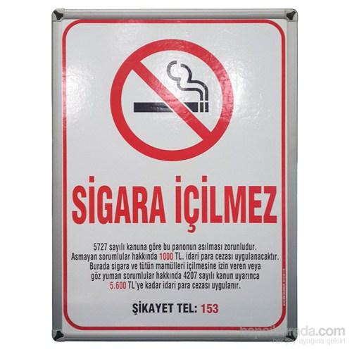 Akyazı 35x50 Sigara İçilmez Panosu (Aliminyum Çerçeve)