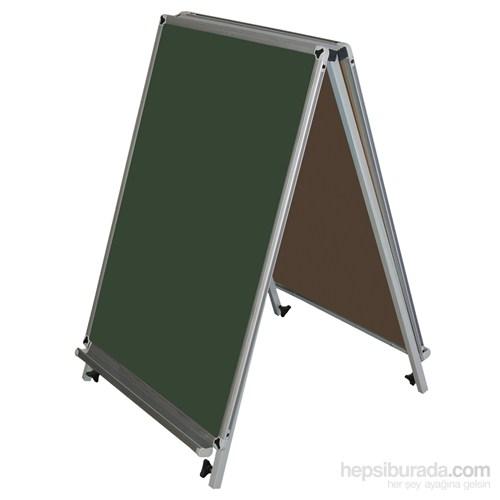 Akyazı 60x85 Emaye Üçgen Tip Çift Taraflı Y.Tahtası (Yeşil)