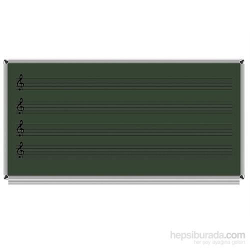 Akyazı 120x140 Laminat Müzik Çizgili Yazı Tahtası (Yeşil)