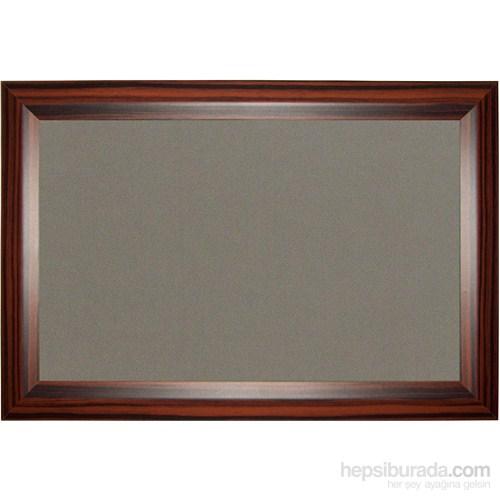 Akyazı 120x180 Geniş Ahşap Çerçeve Kumaşlı Pano (Gri)