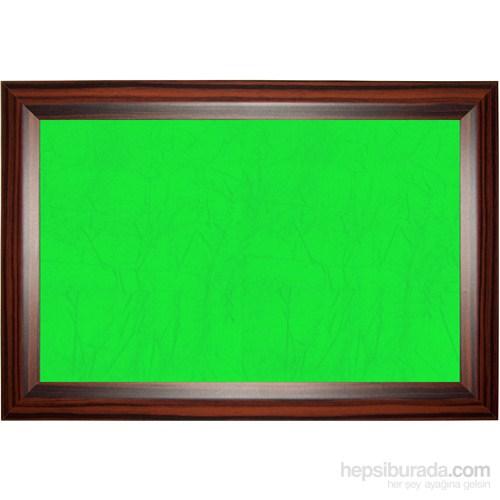 Akyazı 120x200 Geniş Ahşap Çerçeve Kumaşlı Pano (Yeşil)
