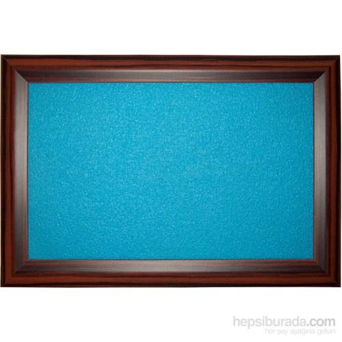 Akyazı 90x180 Geniş Ahşap Çerçeve Renkli Pano (Mavi)