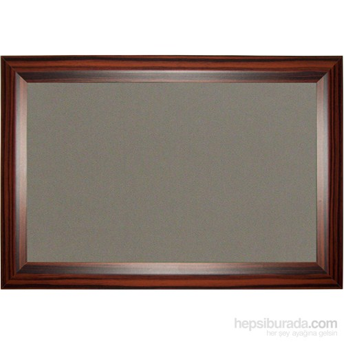 Akyazı 90x180 Geniş Ahşap Çerçeve Kumaşlı Pano (Gri)