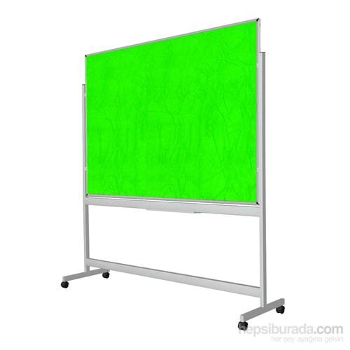 Akyazı 90x120 Kumaşlı Pano Mobil Tek Taraflı Panosu (Yeşil)