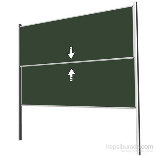 Akyazı 100x240 Giyotin Çiftli Emaye Yazı Tahtası (Yeşil)