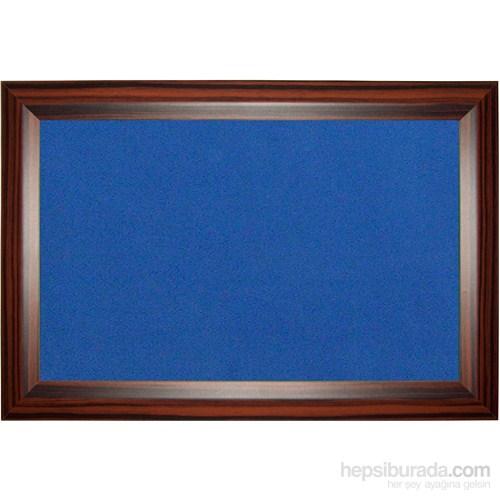 Akyazı 90x120 Geniş Ahşap Çerçeve Renkli Pano (Mavi)