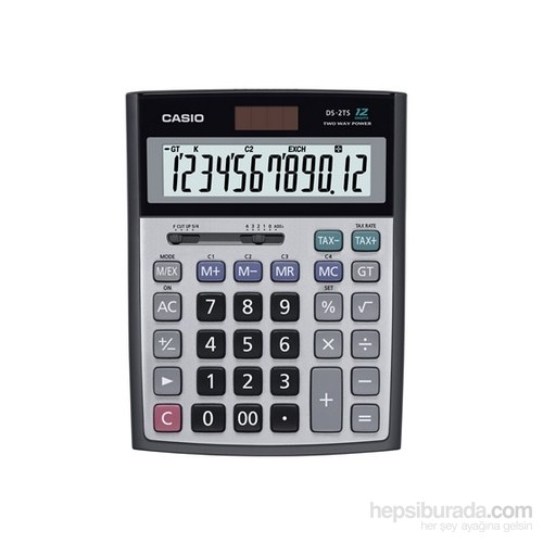 Casio DS-2TS 12 Haneli Hesap Makinesi