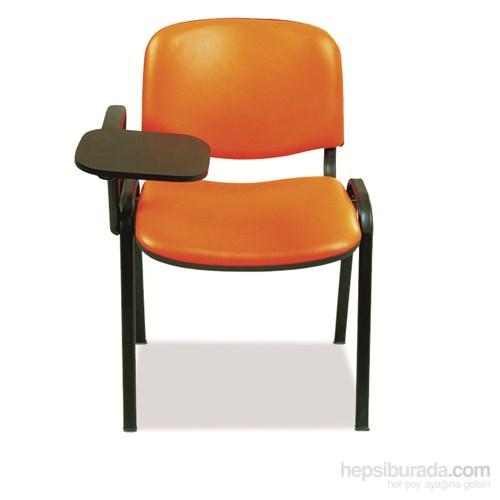 Nav Decoration Finish Yazma Tablalı Sandalye Turuncu