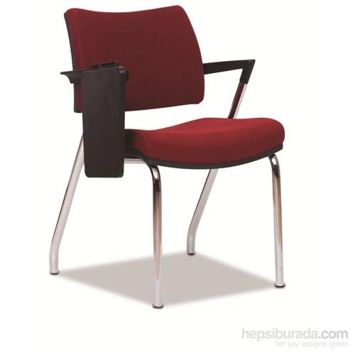 Nav Decoration Quattro Yazma Tablalı Sandalye Bordo