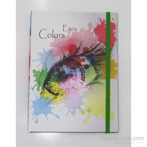 Liz 14x20 Colors Seri Ofset Kapak 96.Yp. Lastikli Kareli Ivory Defter