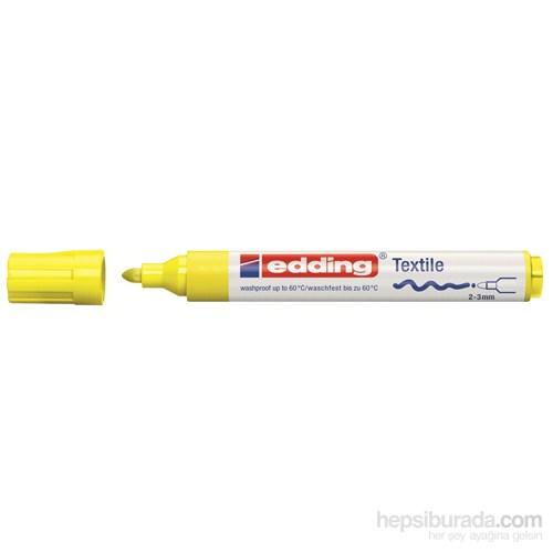 edding Kumaş Boyama Kalemi Fosforlu Sarı
