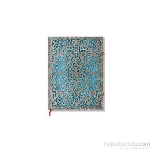 Paperblanks Pb-2-2560-3 Silver Filigree Maya Ultra Çizgili 240 Sayfa Defter